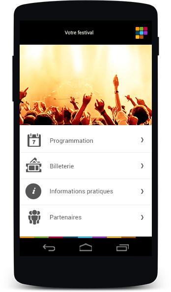 Application mobile pour festival